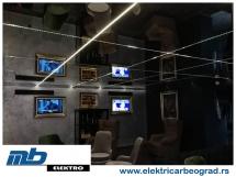 Ugradnja osvetljenja u klubu-1 - Električar Beograd Tim