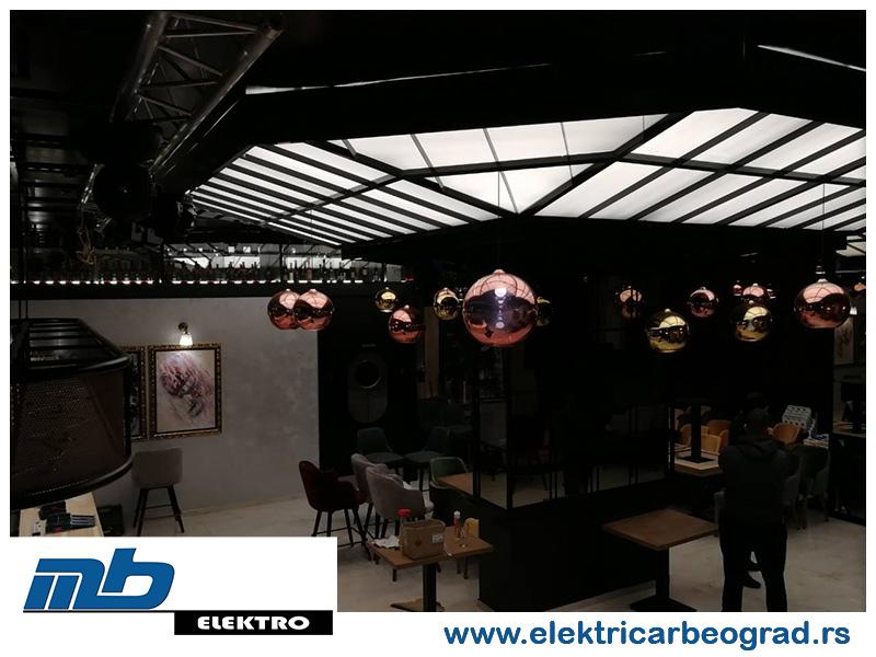 Ugradnja osvetljenja u klubu - Električar Beograd Tim